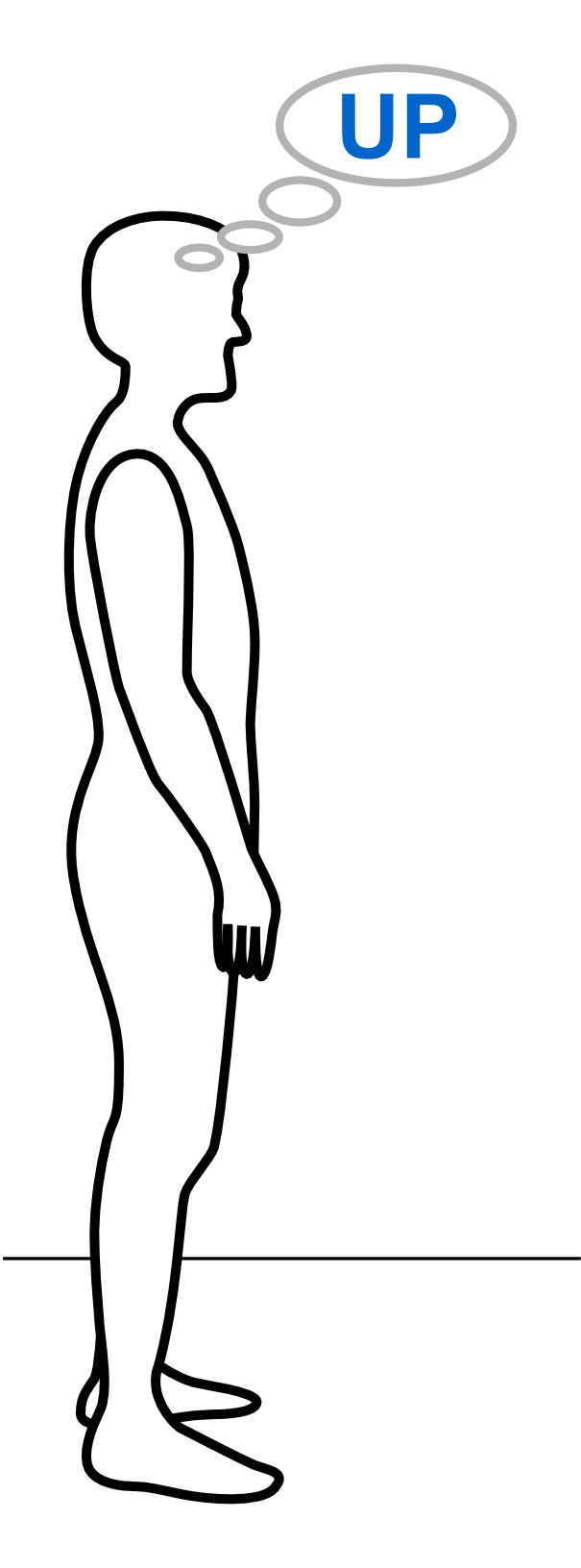 person standing outline graphic